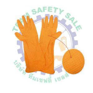 Rubber orange glove