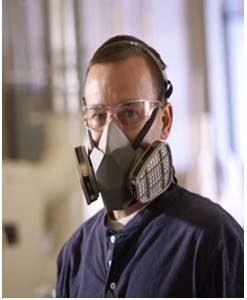H. หน้ากากกันสารเคมี ผ้าปิดจมูก หน้ากากกันแก๊ส หน้ากากป้องกันสารเคมี