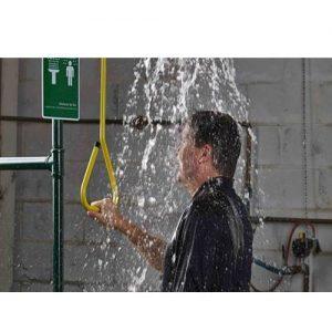 emergency shower use