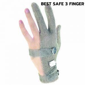 ถุงมือสแตนเลส 3 นิ้ว
